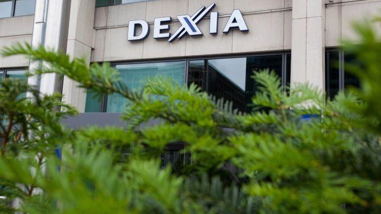 Des locaux de la banque Dexia, à Bruxelles (Belgique), le 27 mai 2011. (JULIEN WARNAND / AFP)