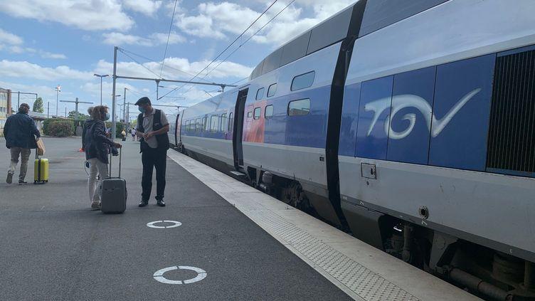 La gare de La Rochelle (Charente-Maritime), le 6 juillet 2020. (MAXPPP)