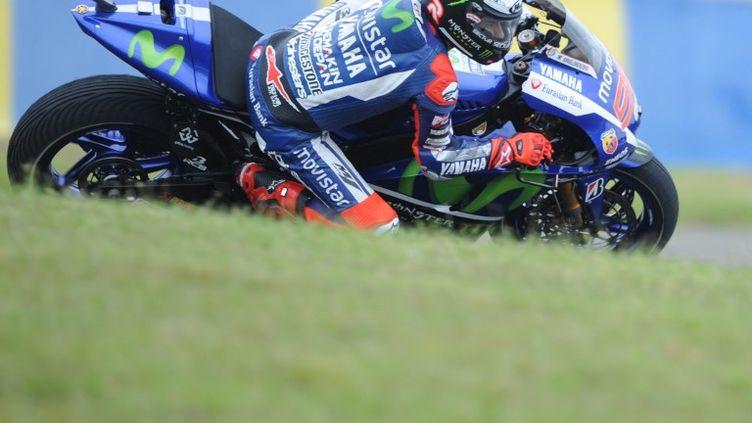 Le pilote Yamaha de MotoGP, Jorge Lorenzo. (JEAN-FRANCOIS MONIER / AFP)