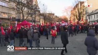 Allemagne : une grève pour travailler 28 heures (FRANCE 2)
