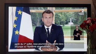 Allocution d'Emmanuel Macron le 14 juin 2020. (BERLU STÉPHANIE / FRANCE-INFO)