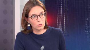 Amélie de Montchalin, ministre de la Transformation et de la Fonction publique, était l'invitée de franceinfo le 5 octobre 2021. (FRANCEINFO / RADIOFRANCE)