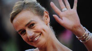L'actrice Sandrine Bonnaire fait partie de l'équipe de campagne de Martine Aubry. Dans ses motivations, elle salue en particulier la volonté de la maire de Lille d'augmenter de 30 à 50% le budget consacré à la culture. (DAMIEN MEYER / AFP PHOTO)