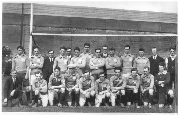 Equipe de Dublin le 21 novembre 1920 avant le match