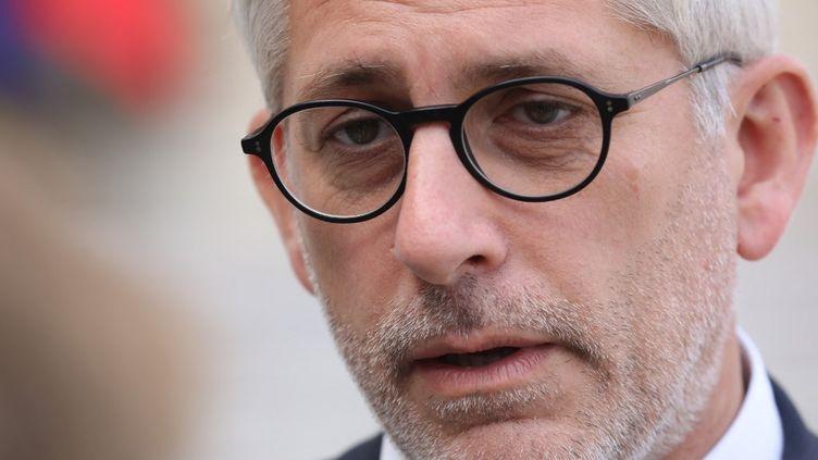 Frédéric Valletoux quitte le palais de l'Elysée, à Paris, le 18 septembre 2018. (LUDOVIC MARIN / AFP)
