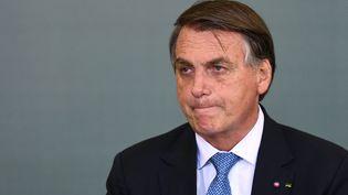 Jair Bolsonaro, le 7 octobre 2021. (EVARISTO SA / AFP)