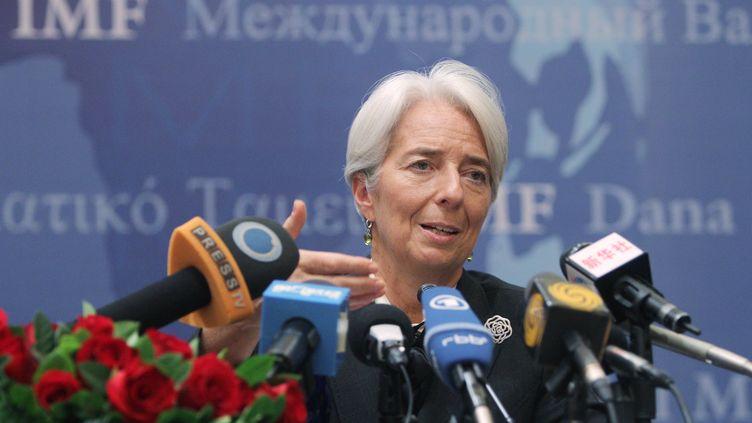 La directrice générale du FMI, Christine Lagarde, lors d'une conférence de presse à Pékin, le 10 novembre 2011. (Zhang Wei)