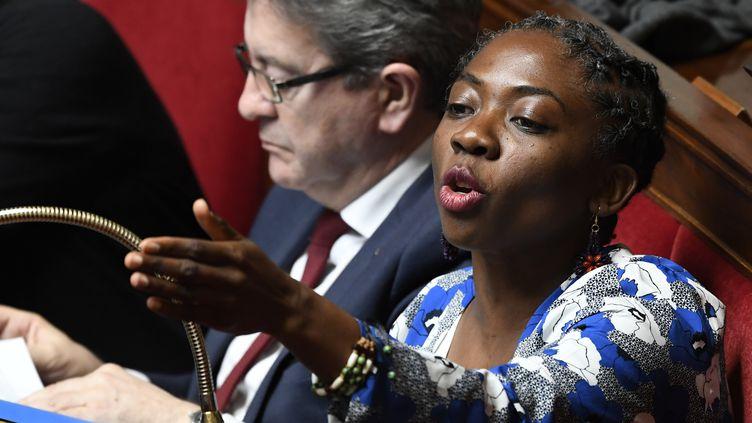 La députée La France insoumise Danièle Obono, le 10 avril 2018, à l'Assemblée nationale à Paris. (BERTRAND GUAY / AFP)