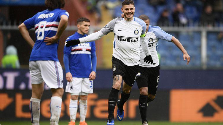 Mauro Icardi a régalé face à la Sampdoria (MARCO BERTORELLO / AFP)
