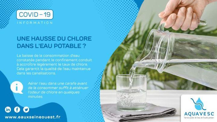 Campagne de communication au sujet de l'eau potable et de son traitement pendant la période de confinement. (Aquavesc)