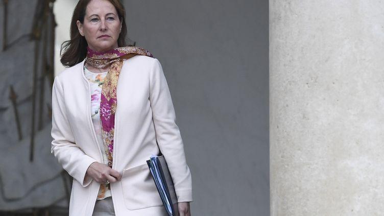 L'ancienne ministre Ségolène Royal au palais de l'Élysée, le 3 mai 2017. Illustration. (STEPHANE DE SAKUTIN / AFP)