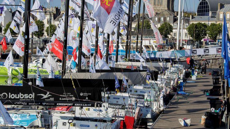 Les bateaux de la Transat en Doubleen attente (Eric Cintas)