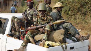 Membres du groupe armé Séléka à Bangui, capitale de la Centrafrique, le 27 janvier 2014. (JEROME DELAY/AP/SIPA / AP)