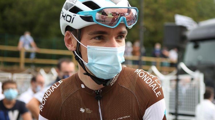 Romain Bardet de l'équipe AG2R La Mondiale lors du championnat de France 2020, le 23 août 2020 à Grand-Champ (photo d'illustration). (LAURENT LAIRYS / MAXPPP)