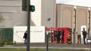 L'entrée de la grande mosquée de Lyon (Rhône). (France 2)