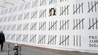 La fresque de Banksy pour l'artiste et journaliste Zehra Dogan réalisée à Manhattan mi-mars 2018.  (Dennis Van Tine/STAR MAX/AP/SIPA)