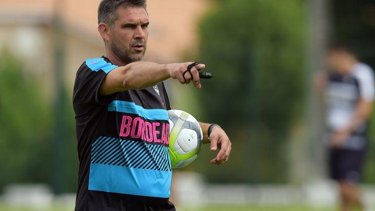 Jocelyn Gourvennec, entraîneur des Girondins de Bordeaux.  (NICOLAS TUCAT / AFP)