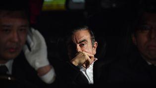 Carlos Ghosn, ancien PDG de Renault-Nissan, à Tokyo, le 6 mars 2019. (KENTRARO AOYAMA / YOMIURI / AFP)