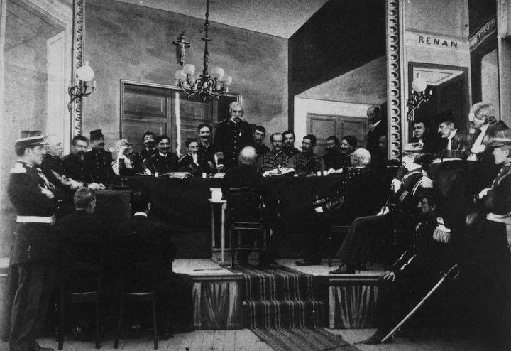 """""""L'Affaire Dreyfus"""", film de reconstitution historique de Georges Méliès, revient sur la célèbre affaire. (ARCHIVES DU 7EME ART / AFP)"""