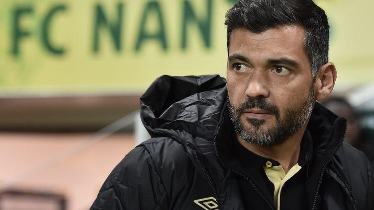 L'entraîneur de Nantes, Sergio Conceiçao (JEAN-SEBASTIEN EVRARD / AFP)