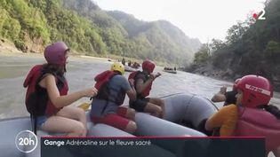 Rafting sur le Gange. (FRANCE 2)