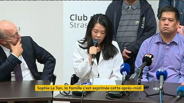 Sophie Le Tan, la famille s'est exprimée cet après-midi