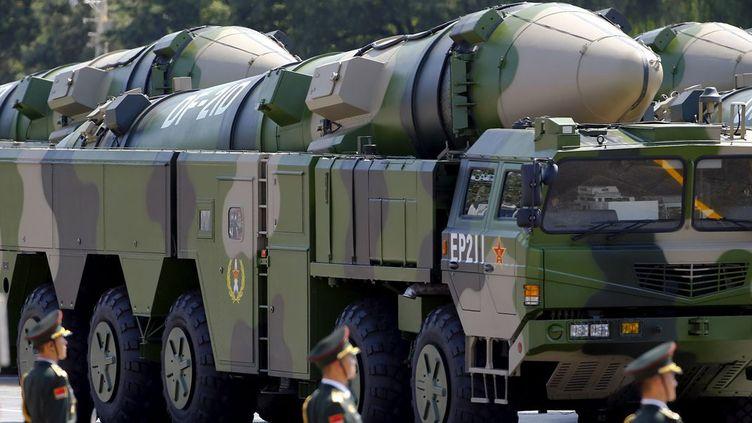 Parade militaire à Pékin, présentation de missiles balistiques chinois (reuters/Damir Sagolj)