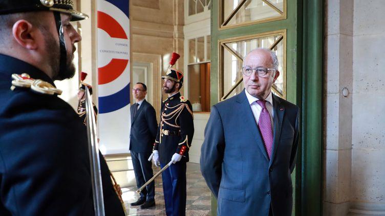 Le président du Conseil constitutionnel, Laurent Fabius, le 21 juillet 2020 à Paris. (LUDOVIC MARIN / AFP)