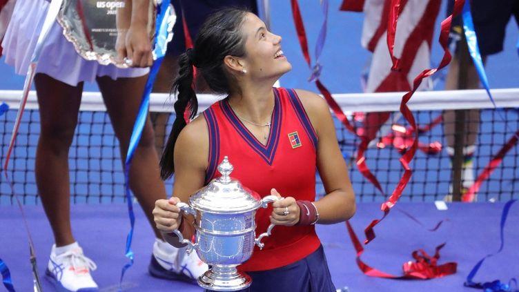 Emma Raducanu a remporté l'US Open 2021. (KENA BETANCUR / AFP)