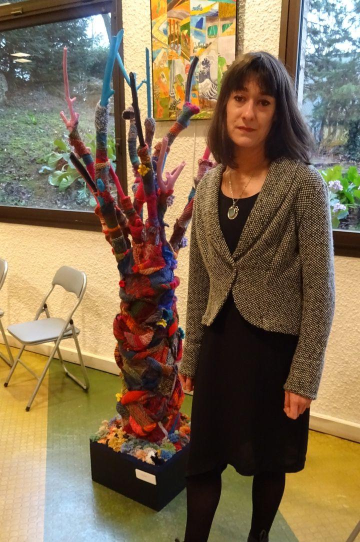 Virginie Boyer, coordinatrice du projet culturel au centre hospitalier de Saint-Cyr au Mont d'Or  (France Télévisions/culturebox )