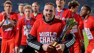 21 décembre 2013Franck Ribery célèbre la victoire du Bayern de Munichà Casablanca au Maroc (DAVID EBENER / DPA / AFP)