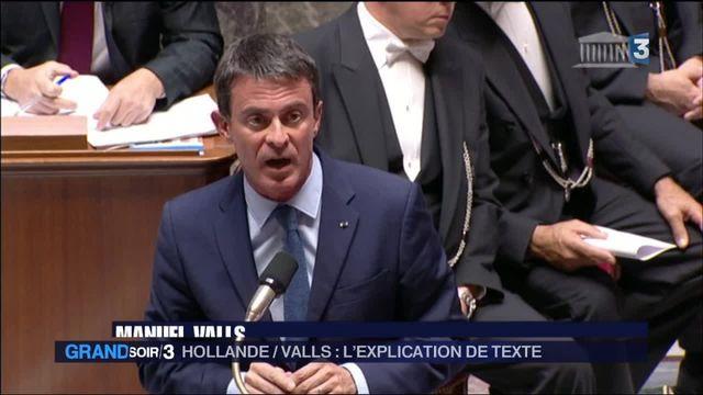 François Hollande et Manuel Valls, l'explication de texte