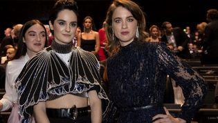 """Les actrices Noemie Merlant (G) et Adele Haenel (D) qui ont quitté la cérémonie des César du 28 février 2020, à l'annonce de Roman Polanski, meilleur réalisateur pour """"J'accuse"""". (BERTRAND GUAY / AFP)"""