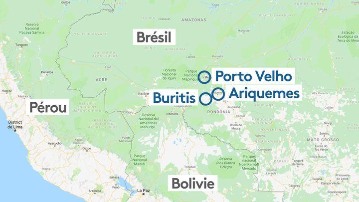 L'État de Rondonia, dans le sud-ouest du Brésil, est un des États les plus touchés par les incendies qui sévissent en Amazonie. (STEPHANIE BERLU / RADIO FRANCE)