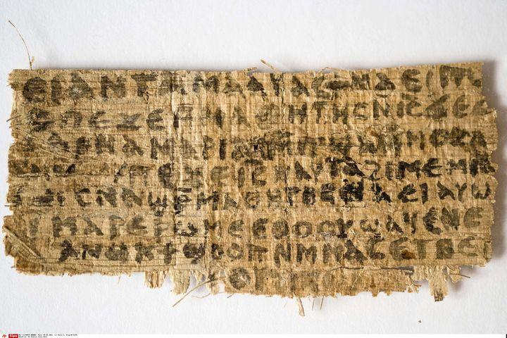 Le papyrus étudié à la Harvard Divinity School jette le doute sur le statut marital de Jésus. (KAREN KING / AP / SIPA)
