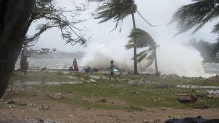 La capitale du Vanuatu, Port Vila, frappée par le cyclone Pam le 14 mars 2015. ( AP / SIPA )