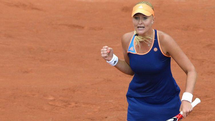 Kristina Mladenovic a réalisé le premier exploit français de Roland-Garros (MIGUEL MEDINA / AFP)