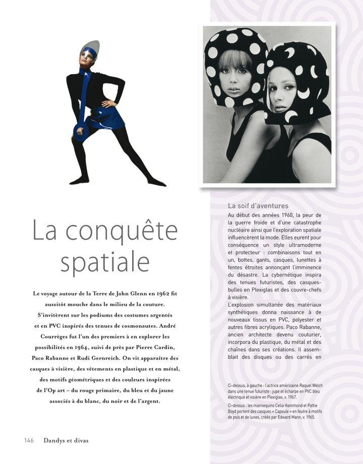 La conquête spatiale influença la mode avec un style ultra moderne et protecteur.  (Groupe Eyrolles.)