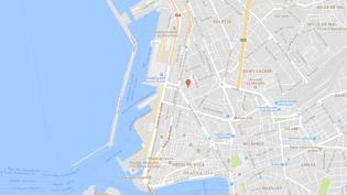 Carte de localisation de la rueGourgon, dans le quartier de la Joliette, près du Vieux-Port de Marseille. (GOOGLEMAPS)