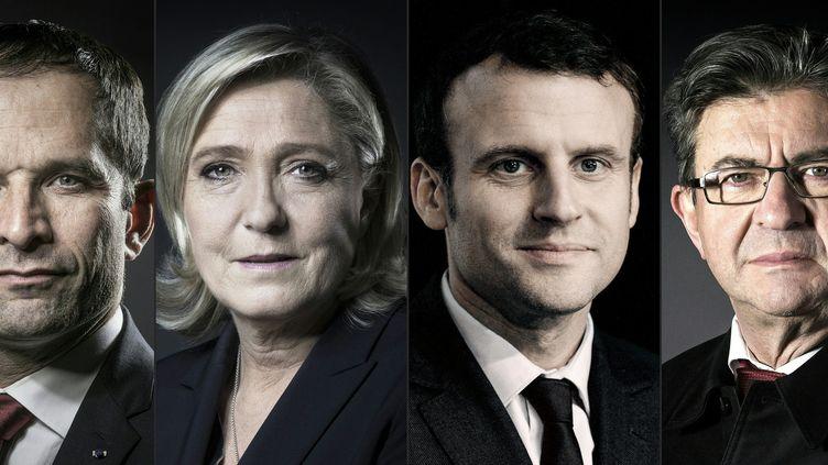 4 des candidats à la Présidentielle 2017 avec un vestiaire classique et sombre  (JOEL SAGET / AFP)
