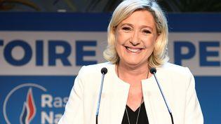 La présidente du RN, Marine Le Pen, le 26 mai 2019 à Paris. (BERTRAND GUAY / AFP)