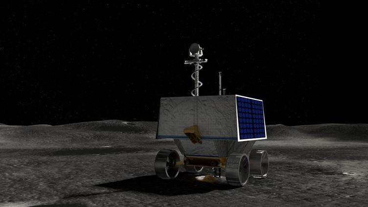 Une illustration de la Nasa montrant le rover VIPER sur la Lune. (NASA / AFP)