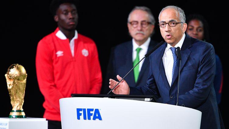 Carlos Cordeiro, leader de la triple candidature Mexique/USA/Canada. (MLADEN ANTONOV / AFP)
