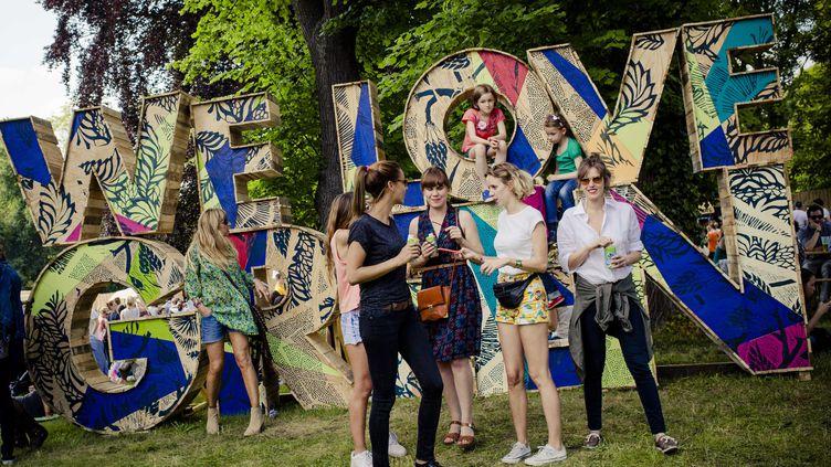 Des spectateurs du festival We Love Green, au parc de Bagatelle (Paris), le 31 mai 2014. (MAXPPP)