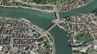A Montereau-Fault-Yonne (Seine-et-Marne), point de confluence entre l'Yonne et la Seine. (GOOGLE MAPS)