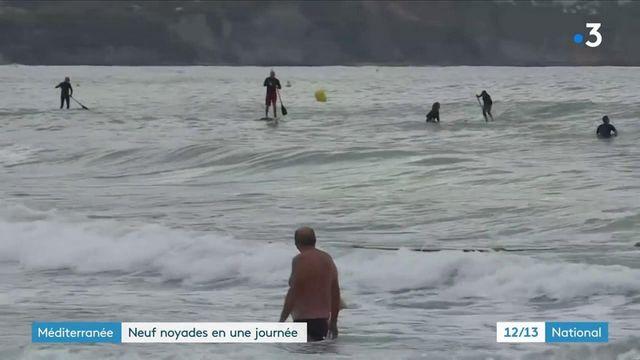 Méditerranée : neuf personnes mortes noyées en une journée