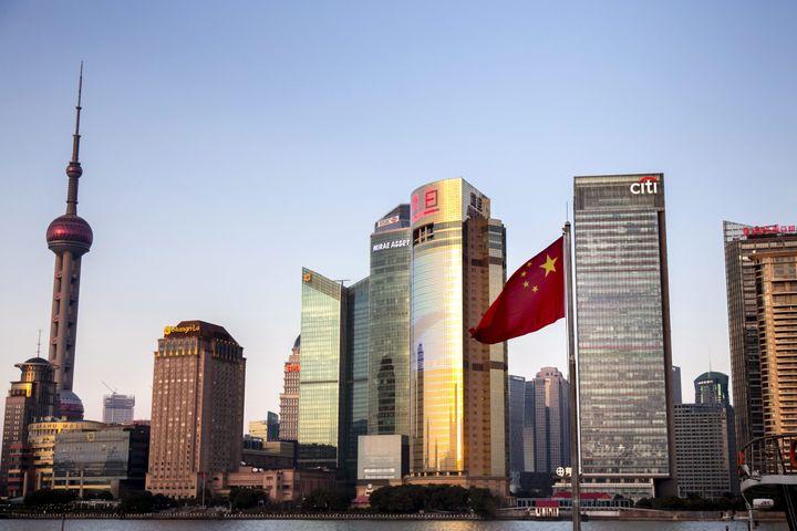 Vue du quartier d'affaires de Shanghai, capitale économique de la Chine.. (VINCENT ISORE / MAXPPP)