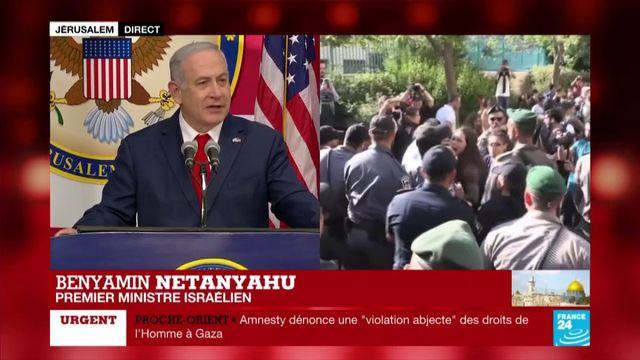 """Benyamin Nétanyahou : """"Le président Trump a fait l'histoire"""""""