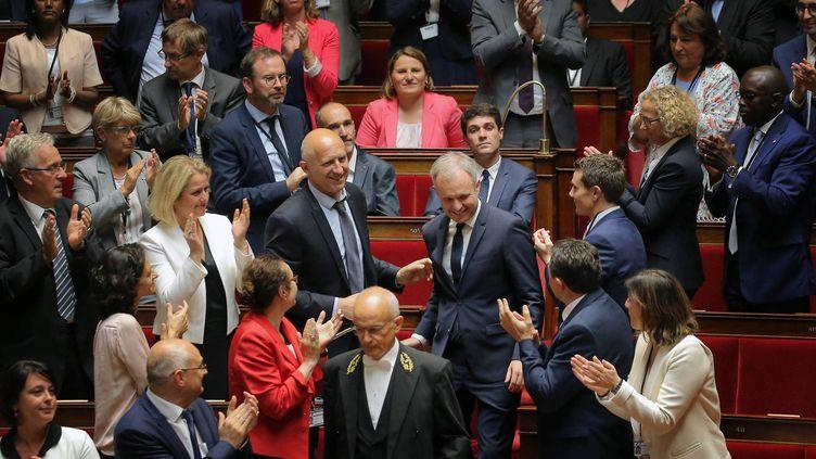 François de Rugy à l'annonce de son élection à la présidence de l'Assemblée le 27 juin 2017. (LAURENT THEILLET THEILLET LAURENT / MAXPPP)