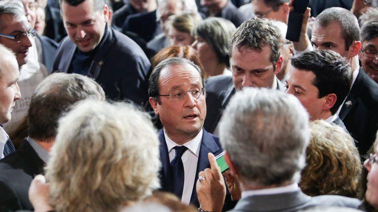 François Hollande à Tulle (Corrèze), le 18 janvier 2014. (  MAXPPP)